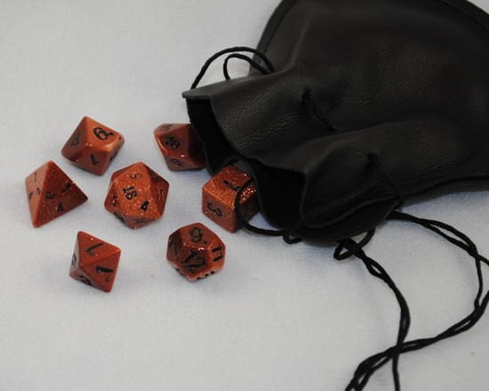 Red Gold Stone Dice